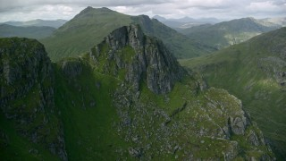 AX110_082 - 6K stock footage aerial video of The Cobbler mountain in the Scottish Highlands, Scotland