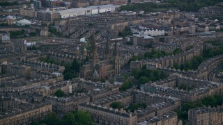 AX111_163 - 6K stock footage aerial video of St Mary's Cathedral in Edinburgh, Scotland