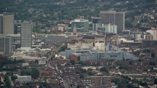 AX115_286 - 6K stock footage aerial video of Centrale shopping mall, Croydon, England