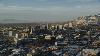 Salt Lake City, UT Aerial Stock Footage