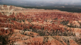 AX130_474 - 6K stock footage aerial video of groups of hoodoos and buttes at Bryce Canyon National Park, Utah