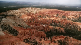 AX130_476 - 6K stock footage aerial video of approaching hoodoos and buttes, Bryce Canyon National Park, Utah