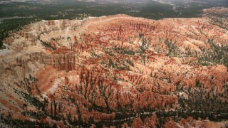 AX130_478 - 6K stock footage aerial video of orbiting groups of hoodoos and buttes, Bryce Canyon National Park, Utah