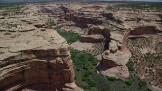 AX136_084 - 6K stock footage aerial video of flying over Grand Gulch canyon, Grand Gulch Primitive Area, Utah