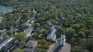 Martha's Vineyard, MA Aerial Stock Footage