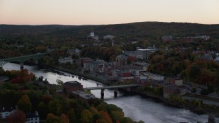 Augusta, ME Aerial Stock Footage