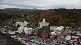 Montpelier, VT Aerial Stock Footage