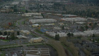 AX155_006 - 6K stock footage aerial video flying over the Tanasbourne Town Center in Hillsboro, Oregon