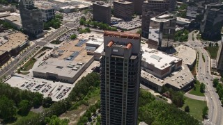 AX36_062 - 5K stock footage aerial video orbiting Park Avenue Condominiums, Buckhead, Georgia