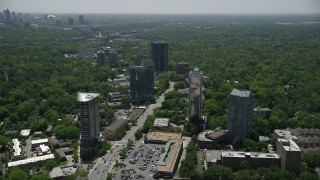 AX36_079 - 5K stock footage aerial video approaching 2828 Peachtree, Buckhead, Georgia