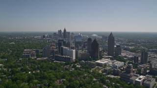 AX37_023 - 5K stock footage aerial video of Midtown Atlanta, Georgia