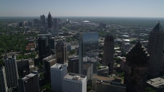 AX37_025 - 5K stock footage aerial video approaching 1180 Peachtree, Midtown Atlanta, Georgia