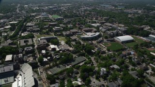 AX37_028 - 5K stock footage aerial video of Georgia Institute of Technology, Atlanta, Georgia