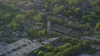 AX39_015 - 5K stock footage aerial video of Old Water Tower Park and residential neighborhoods, East Atlanta