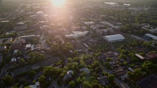 AX39_051 - 5K stock footage aerial video of Georgia Institute of Technology campus, Atlanta, Georgia