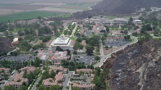 AX42_022 - 5K stock footage aerial video flyby the California State University Channel Islands campus, Camarillo, California