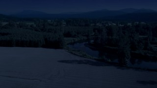 Day for Night Aerial Stock Footage