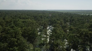 AX60_082 - 5K stock footage aerial video fly over and pan across a vast swamp in St. John the Baptist Parish, Louisiana