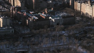 AX66_0190 - 5K stock footage aerial video of the Museum of Natural History, Upper West Side, New York City