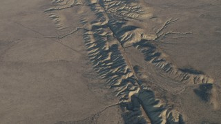 AX70_046 - 4K stock footage aerial video Bird's eye of the San Andreas Fault, Southern California