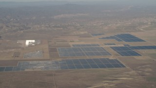 AX70_059 - 4K stock footage aerial video Solar panels at Topaz Solar Farm in the Carrizo Plain, California