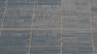AX70_062 - 4K stock footage aerial video Panels at the Topaz Solar Farm in the Carrizo Plain, California