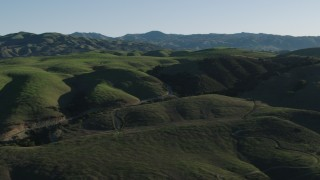 AX70_098 - 4K stock footage aerial video Green hills in Gilroy, California