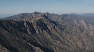 AX70_191 - 4K stock footage aerial video of A view of a rugged mountain ridge in the Los Padres National Forest, California