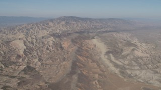 AX70_201 - 4K stock footage aerial video Desert mountains in the Caliente Mountain Range, California