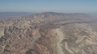 AX70_202 - 4K stock footage aerial video Flyby desert mountains in the Caliente Mountain Range, California