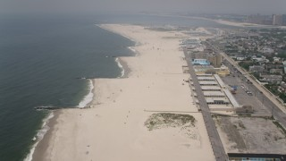AX71_029 - 5K stock footage aerial video flying over Atlantic Beach, Long Island, New York