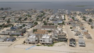 AX71_091 - 5K stock footage aerial video of the coastal community of Lavallette, Jersey Shore, New Jersey