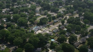 AX72_002 - 5K stock footage aerial video of suburban neighborhoods in Cape May, New Jersey
