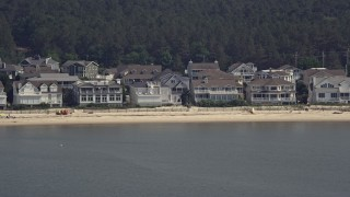 AX72_033 - 5K stock footage aerial video of beachfront property in Lewes, Delaware