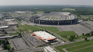 AX72_077 - 5K stock footage aerial video approaching Dover International Speedway, Delaware