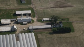 AX72_105 - 5K stock footage aerial video of a farm house in Ingleside, Maryland