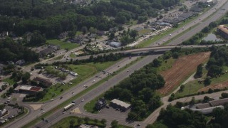 AX72_124 - 5K stock footage aerial video of Blue Star Memorial Highway in Chester, Maryland