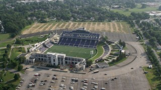 AX73_011 - 5K stock footage aerial video of Navy-Marine Corps Memorial Stadium, Annapolis, Maryland