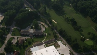 AX73_031 - 5K stock footage aerial video of the Navy Lodge Annapolis in Annapolis, Maryland