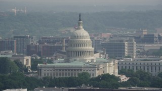 AX75_101 - 5K stock footage aerial video of the North Side of the United States Capitol in Washington DC