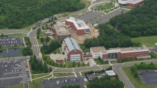 AX78_004 - 5K stock footage aerial video of George Mason University's Prince William Campus, Virginia