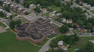 AX78_123 - 5K stock footage aerial video of Furley Elementary School in Baltimore, Maryland