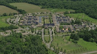 AX83_003 - 5K stock footage aerial video of a retirement community in Skillman, New Jersey