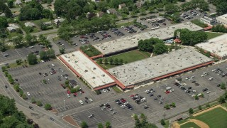 AX83_013 - 5K stock footage aerial video of the Princeton Shopping Center in Princeton, New Jersey