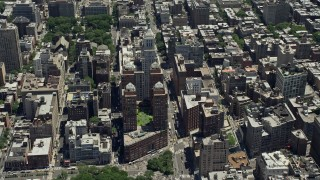 AX83_146 - 5K stock footage aerial video of the Beth Israel Medical Center complex in New York City