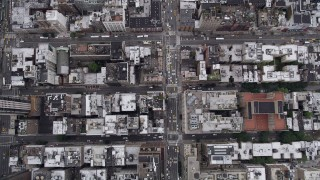 AX84_054 - 4K stock footage aerial video Bird's eye view flying over 7th Avenue, Chelsea, New York, New York