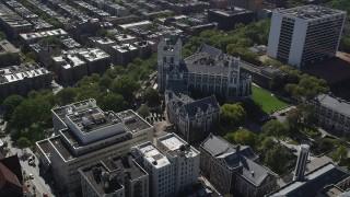 AX91_016 - 4K stock footage aerial video orbit City College of New York, Hamilton Heights, New York
