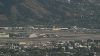 CAP_004_003 - HD stock footage aerial video of Bob Hope International Airport in Burbank, California