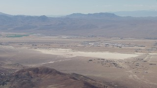 CAP_006_013 - HD stock footage aerial video of Raytheon Barstow surrounded by the Mojave Desert, California