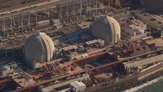 CAP_021_049 - HD stock footage aerial video of circling the San Onofre Nuclear Power Plant, California